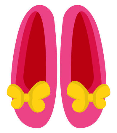 Pink gilry shoes, illustration, vector on white background
