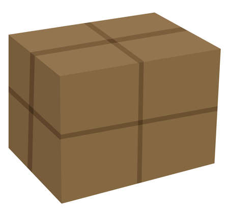Carton box, illustration, vector on white background