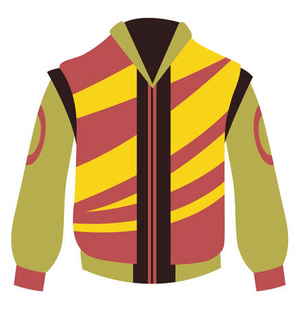 Motor jacket, illustration, vector on white background
