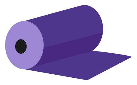 Purple mat, illustration, vector on white background Ilustração