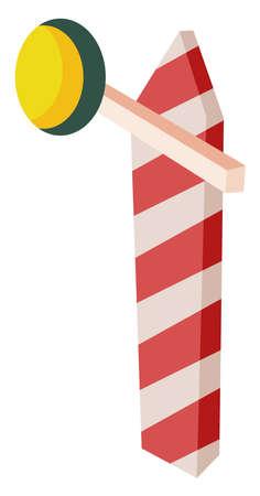 Road barrier, illustration, vector on white background Ilustração