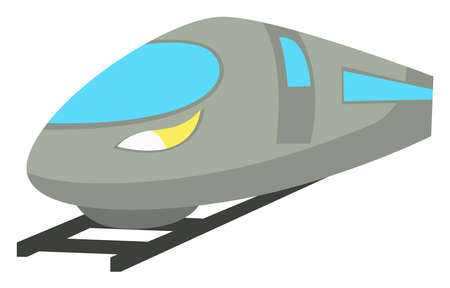 Fast train, illustration, vector on white background 向量圖像