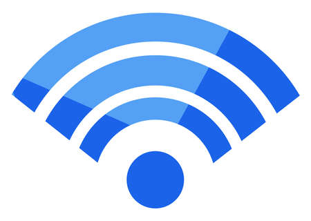 Wi fi sign, illustration, vector on white background
