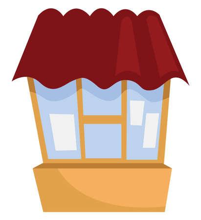 Box office, illustration, vector on white background