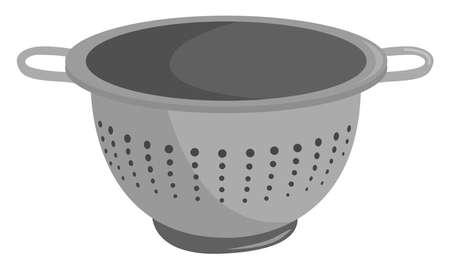 Colander, illustration, vector on white background