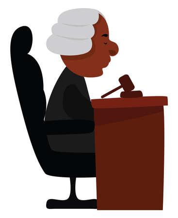 Court illustration, vector on white background