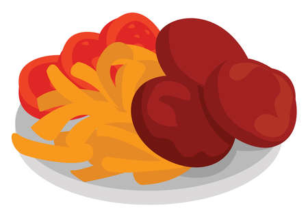 Cutles food, illustration, vector on white background