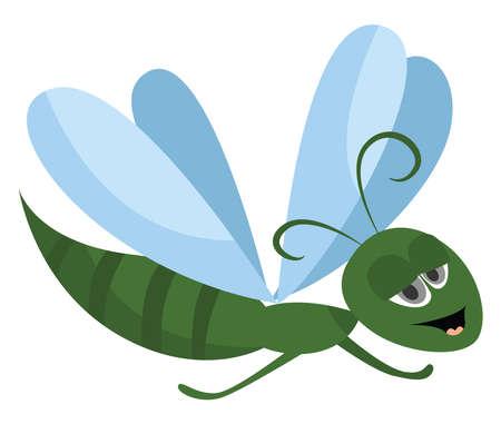 Grasshopper, illustration, vector on white background