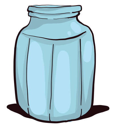 Jar glasses, illustration, vector on white background Stock Illustratie