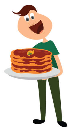 Lahmacun food, illustration, vector on white background