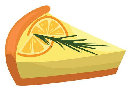 Lemon pie, illustration, vector on white background