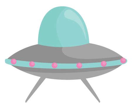 UFO, illustration, vector on white background Illusztráció