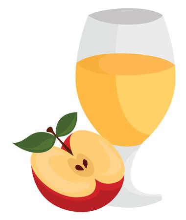 Apple cider, illustration, vector on white background