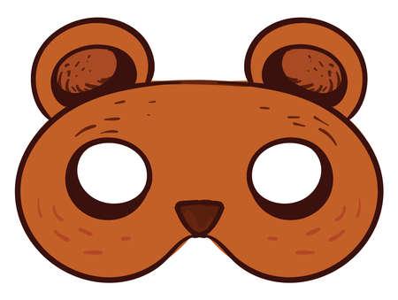 Bear mask, illustration, vector on white background