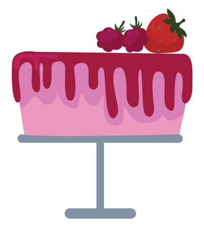 Pink balloon, illustration, vector on white background