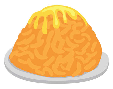 Delicious cak cak dish, illustration, vector on white background