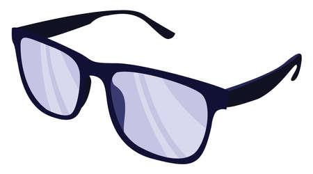 Sunglasses, illustration, vector on white background