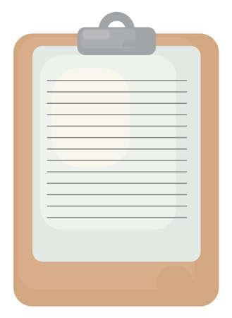 Orange folder, illustration, vector on white background Vectores