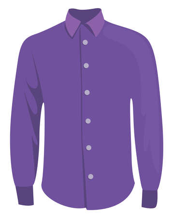 Purple shirt, illustration, vector on white background