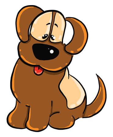 Smart dog, illustration, vector on white background