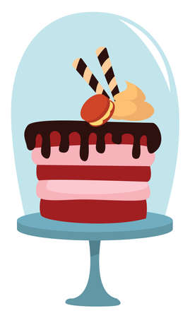 Small round cake, illustration, vector on white background Ilustração