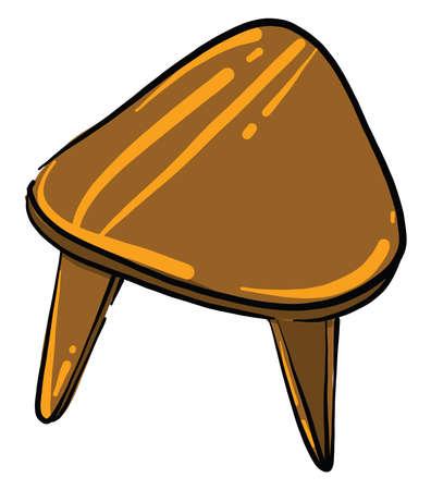 Wooden stool, illustration, vector on white background