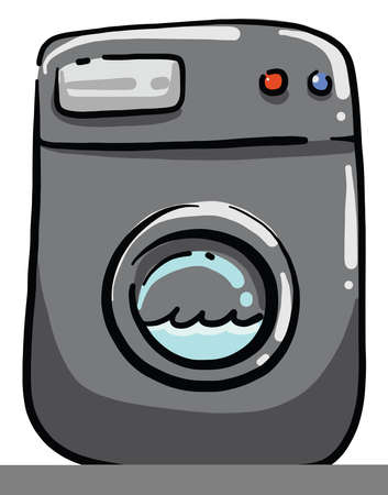 Grey washer, illustration, vector on white background