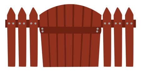 Wicket gate, illustration, vector on white background Illustration