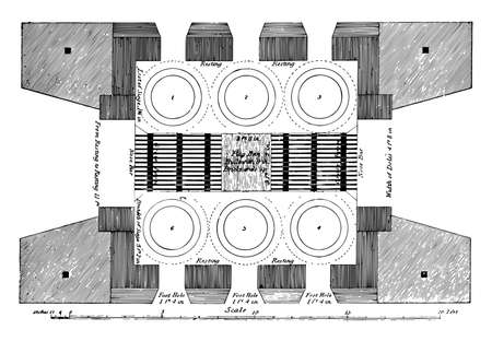 This illustration represents Furnace which is a device used for high temperature heating, vintage line drawing or engraving illustration.