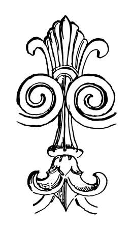 Etruscan Ornament is the art mainly belongs to Italy ancient culture, vintage line drawing or engraving illustration.