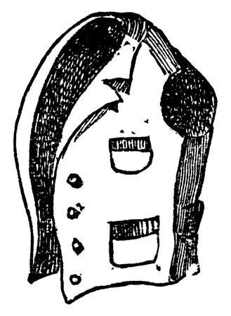 Vest is a waistcoat or body garment for men, vintage line drawing or engraving illustration.