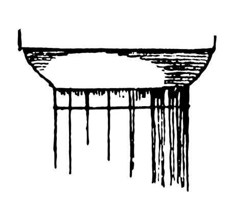 Doric Capital, British, Virgin, Islands, limited, liability, vintage line drawing or engraving illustration. Vector Illustration