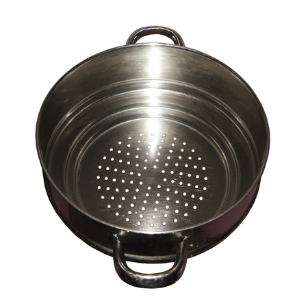 shiney: cut out of a kitchen colander Stock Photo
