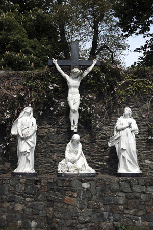 a statue of the crucifiction photo