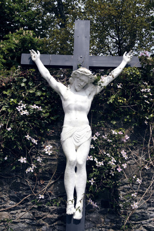 crucifiction: a statue of the crucifiction  Stock Photo
