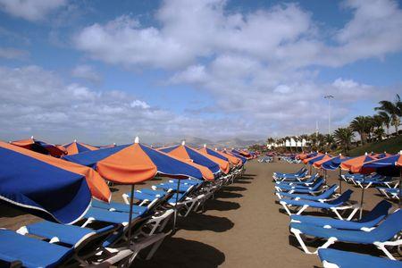 lanzarote: het oog van een lanzarote strand