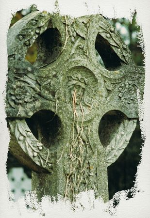 a celtic cross in co waterford ireland photo