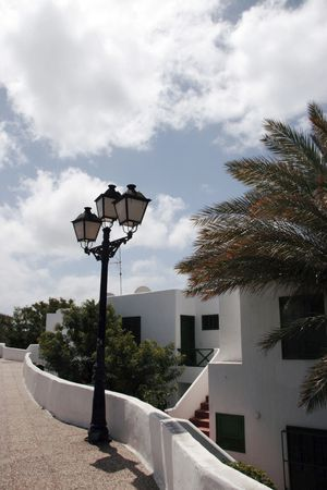 strret: an apartment building in a lanzarote town