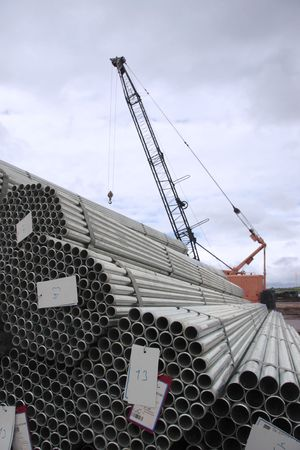 steel shipment getting ready to be loaded