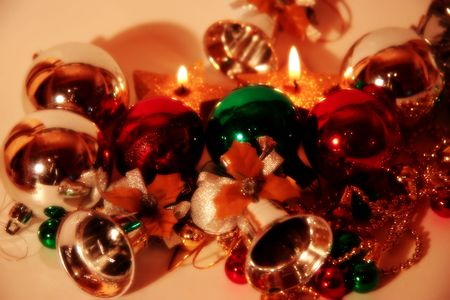 a selection of christmas balls and baubles Stock Photo - 2235804