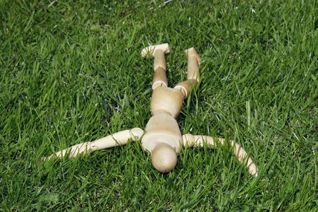 art model man lying in the grass Stock Photo - 2275745