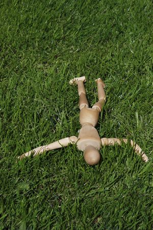 art model man lying in the grass Stock Photo - 2275747