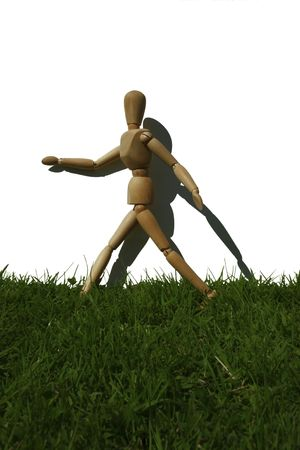 art model man running in the grass Stock Photo - 2275729