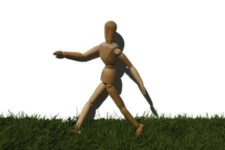 art model man running in the grass Stock Photo - 2275725