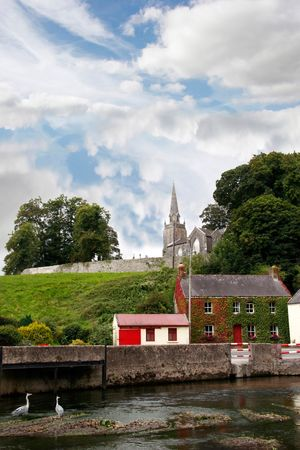 a beautiful irish town in the country photo