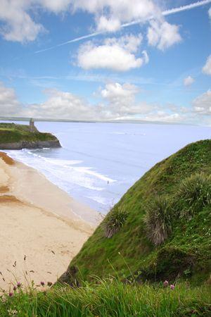 a scenic view of the irish coastline photo