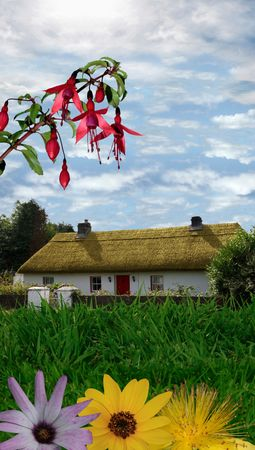 a house in the quiet and peace of the country photo