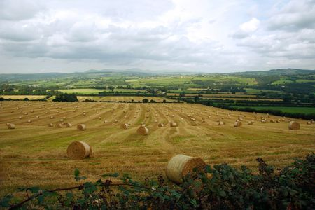 a scenic view in the irish countryside Stock Photo