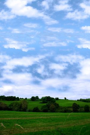 the beautiful green grass of irelands countryside, Stock Photo - 2525827
