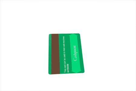 a matt green plain credit card with clipping path Stock Photo - 2846504